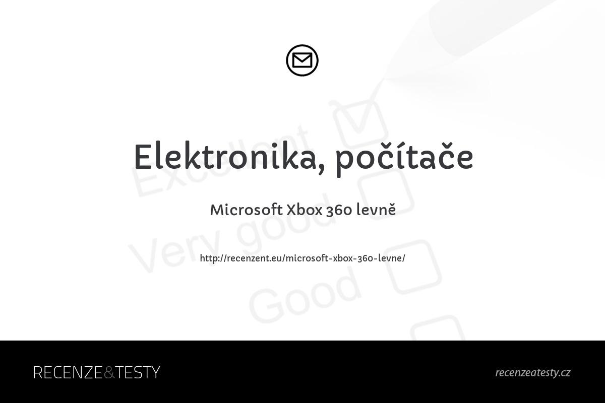 Microsoft Xbox 360 levně