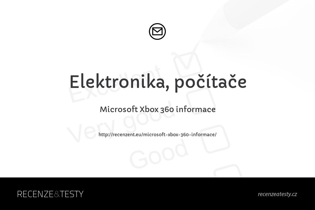 Microsoft Xbox 360 informace